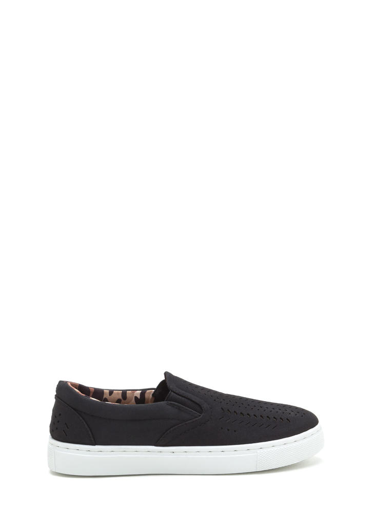 Slits All Good Faux Nubuck Sneakers BLACK