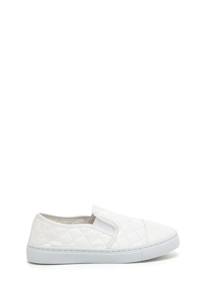 Quilted Cool Faux Leather Sneakers
