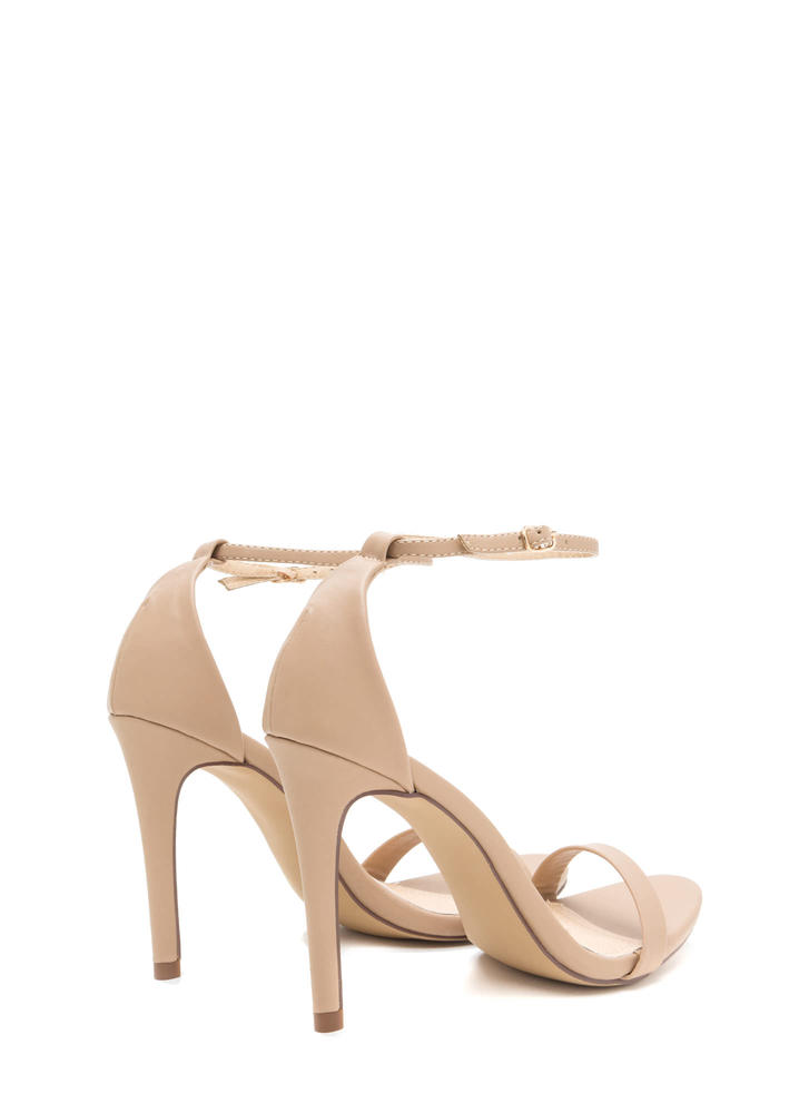 Livin' Is Easy Ankle Strap Heels NUDE