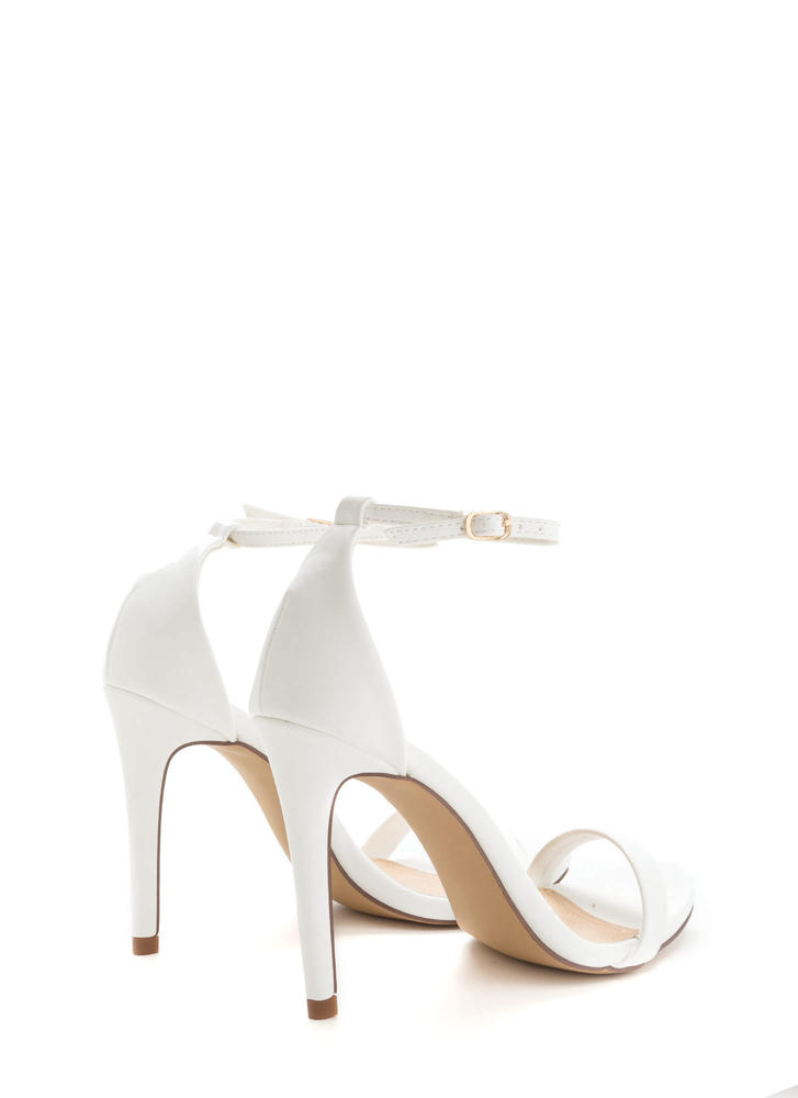 Livin' Is Easy Ankle Strap Heels WHITE