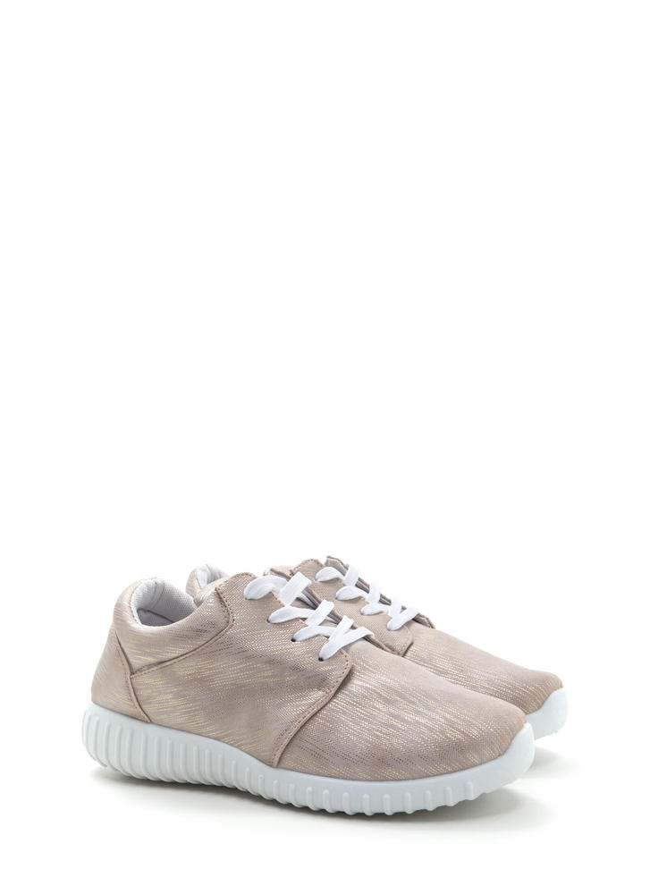 Brush With Destiny Glittery Sneakers ROSEGOLD
