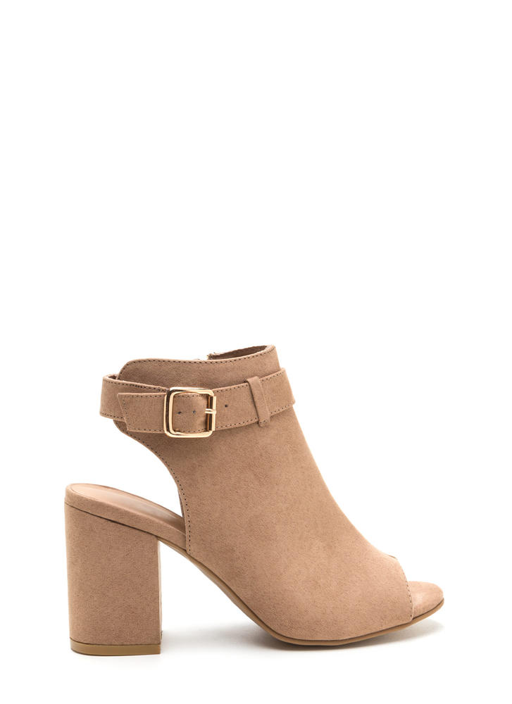 Daily Chic Chunky Cut-Out Booties