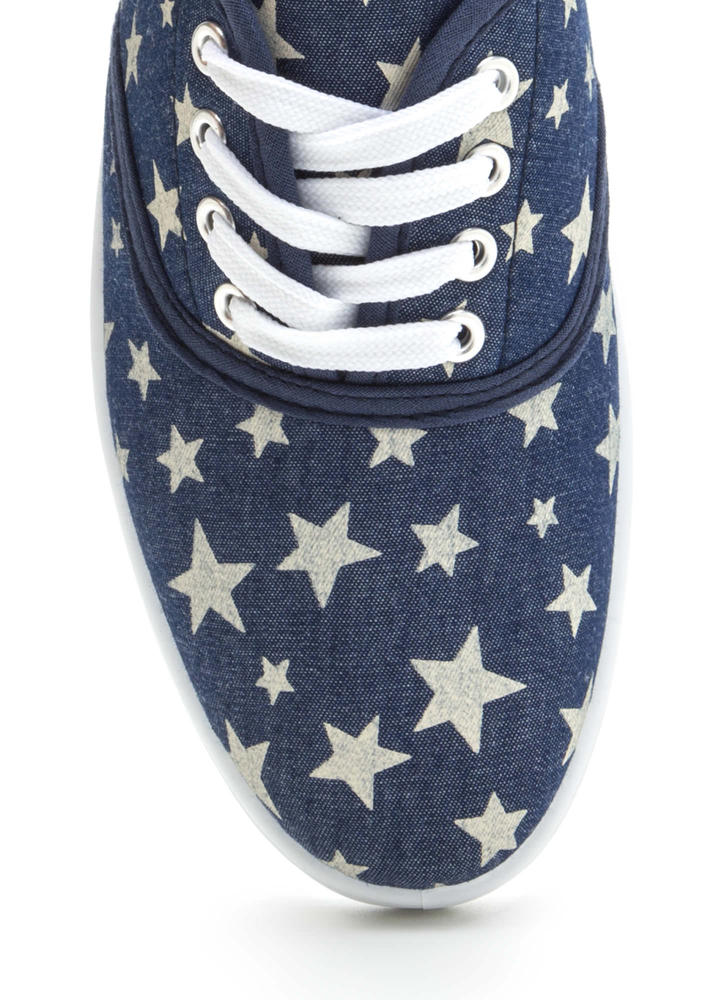 A Star Is Born Denim Look Sneakers BLUE