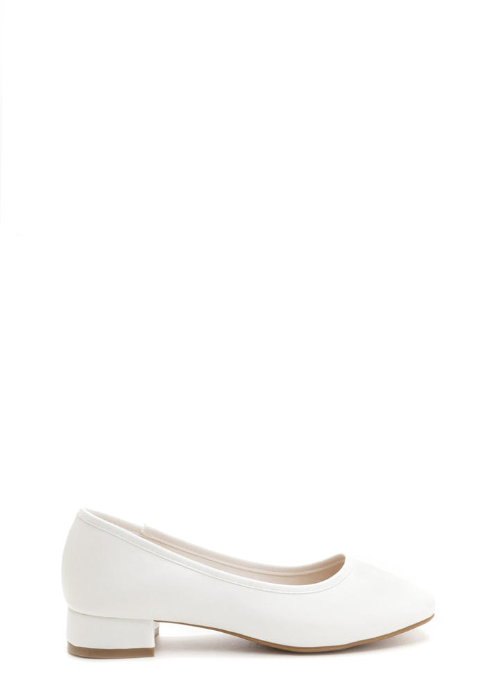 Short And Sweet Block Heel Pumps