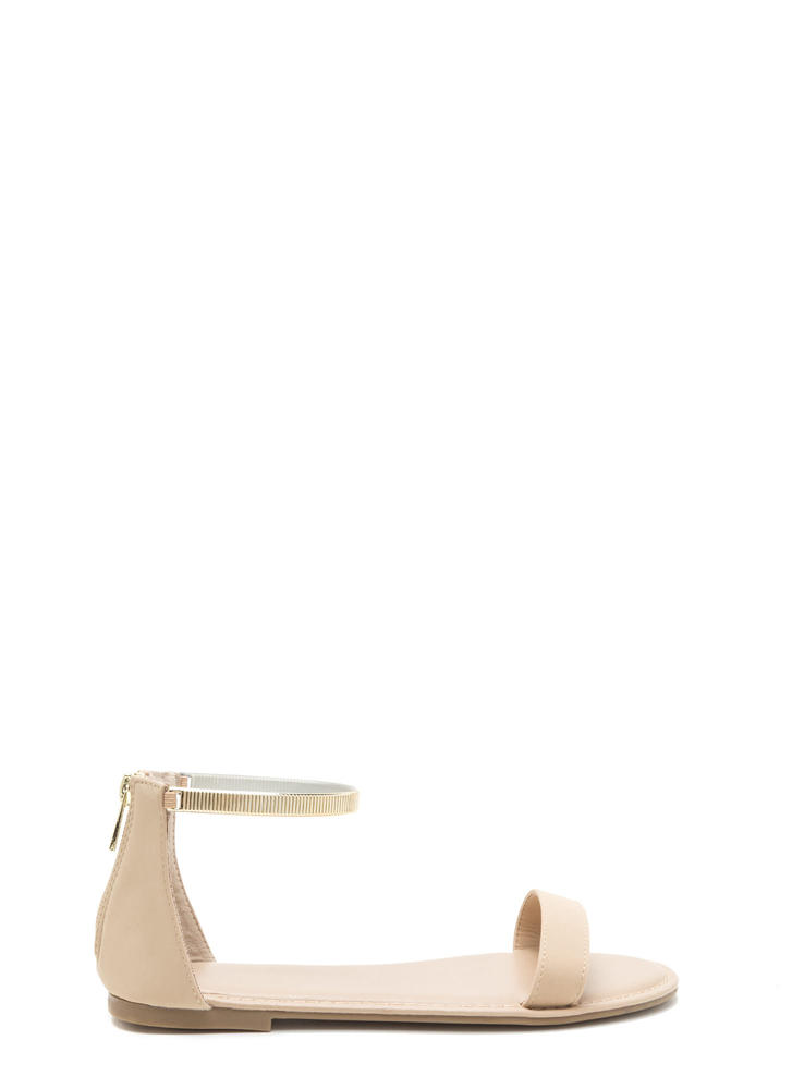 Ridge The Gap Strappy Sandals NUDE