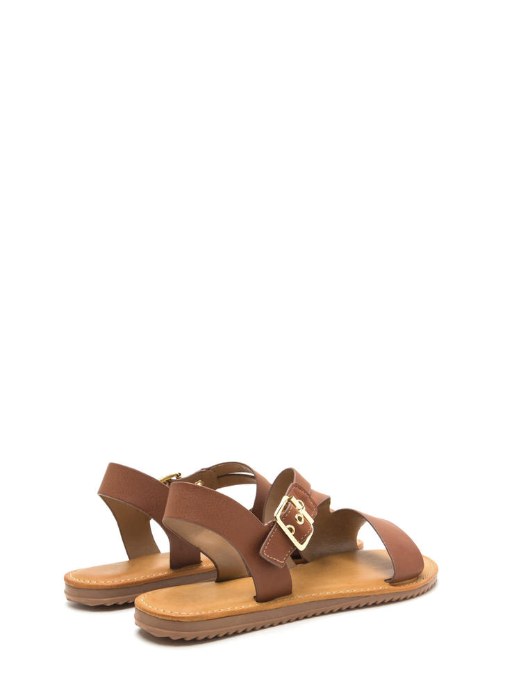Warrior Style Faux Leather Sandals TAN