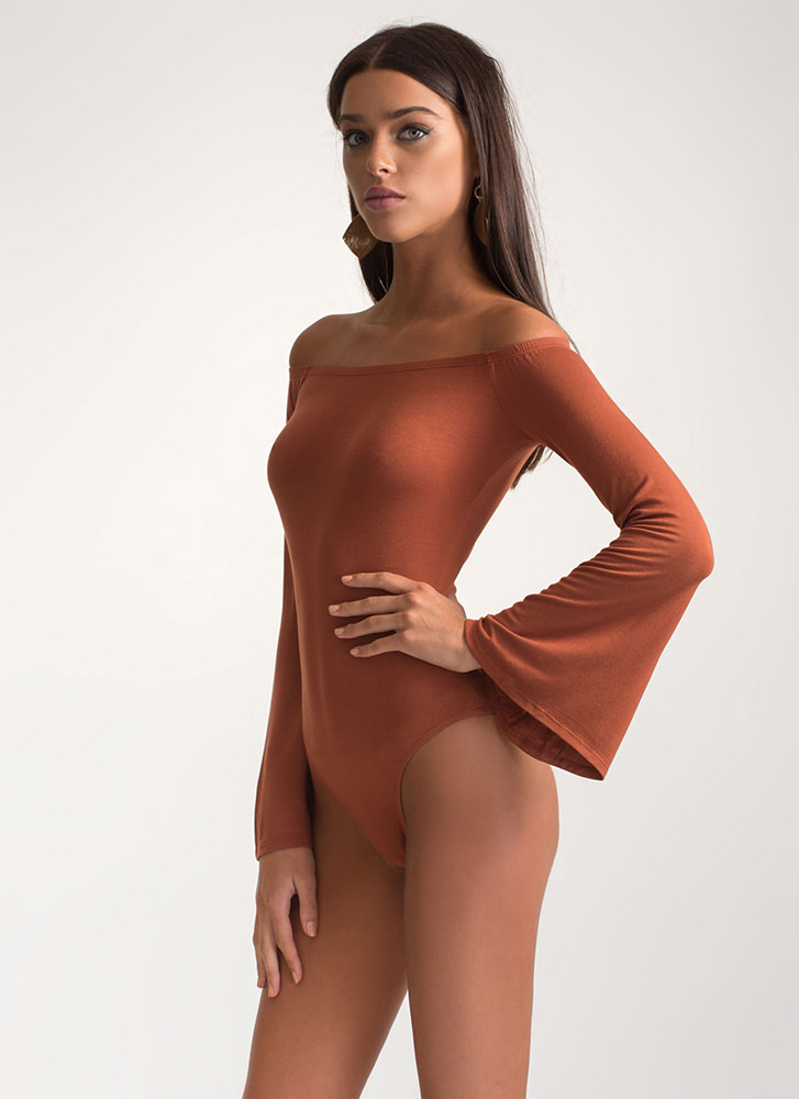 Bell Of The Ball Off-Shoulder Bodysuit