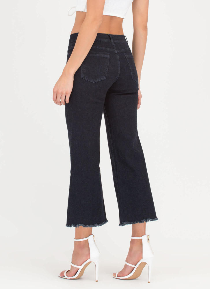 Queen Of The Cropped Flared Jeans DKNAVY