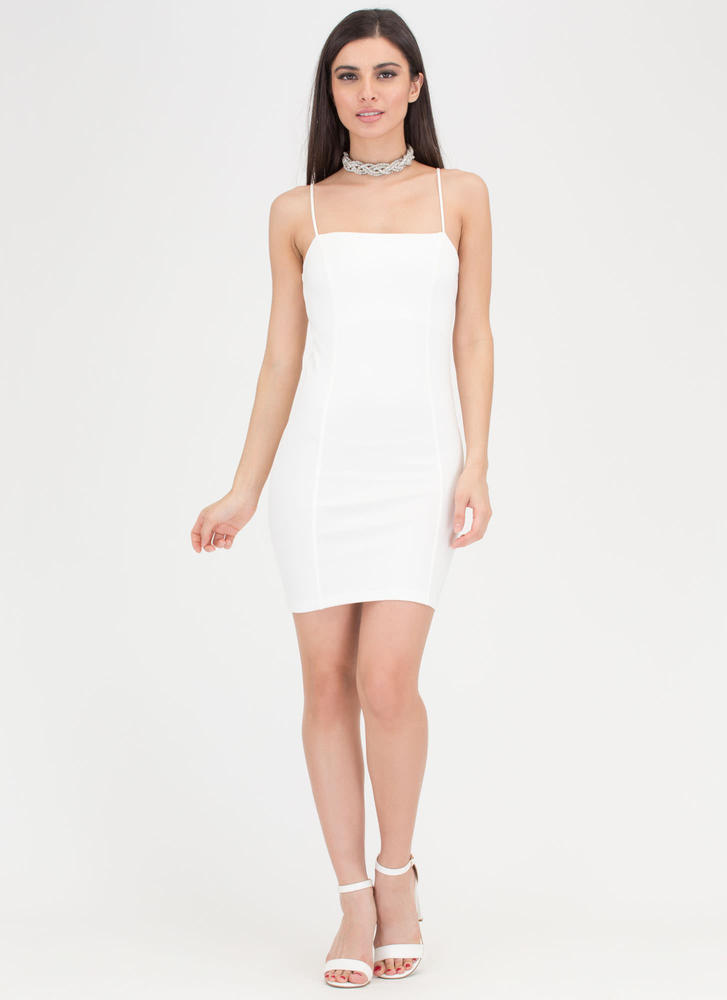 Short Sweet And Simple Minidress WHITE