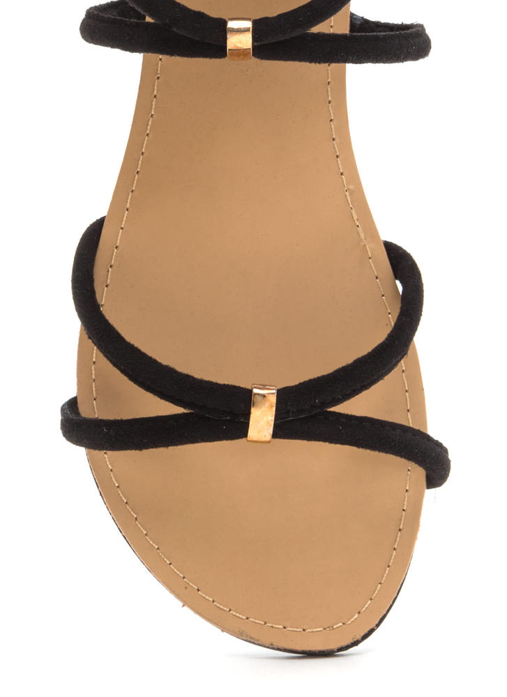 All Together Strappy Looped Sandals BLACK