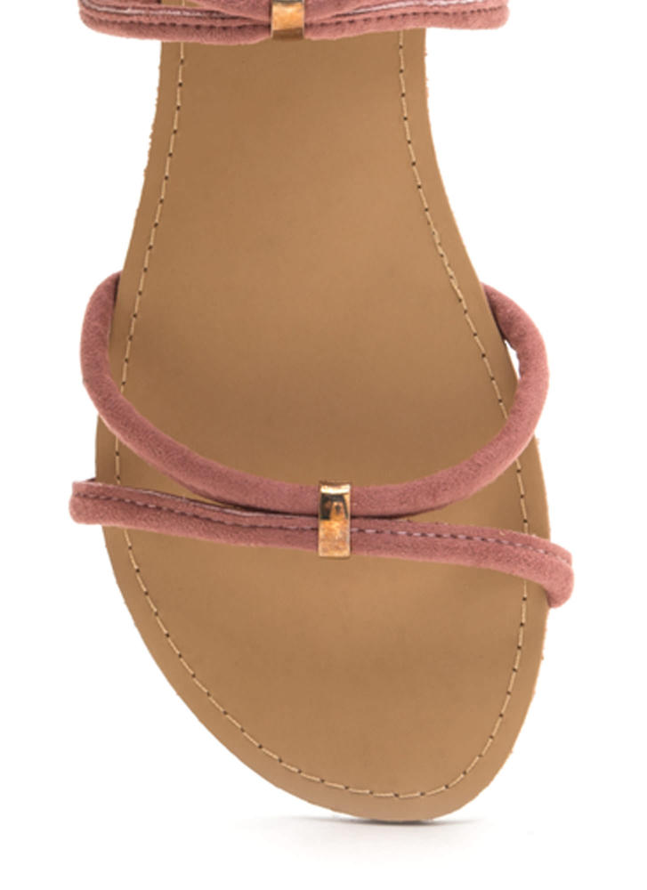 All Together Strappy Looped Sandals MAUVE
