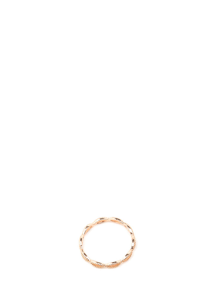 Do The Waves Studded Looped Ring