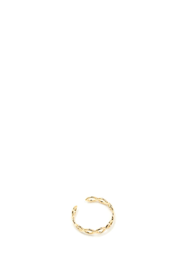 One Loops Or Two Twisted Ring GOLD