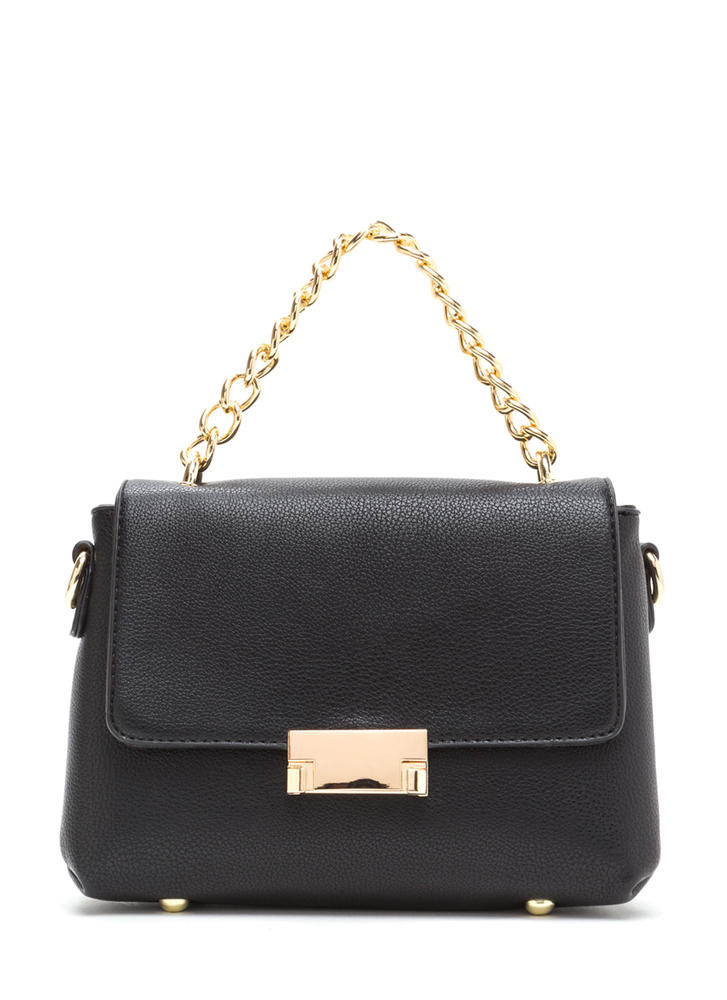 All About Those Chains Faux Leather Bag