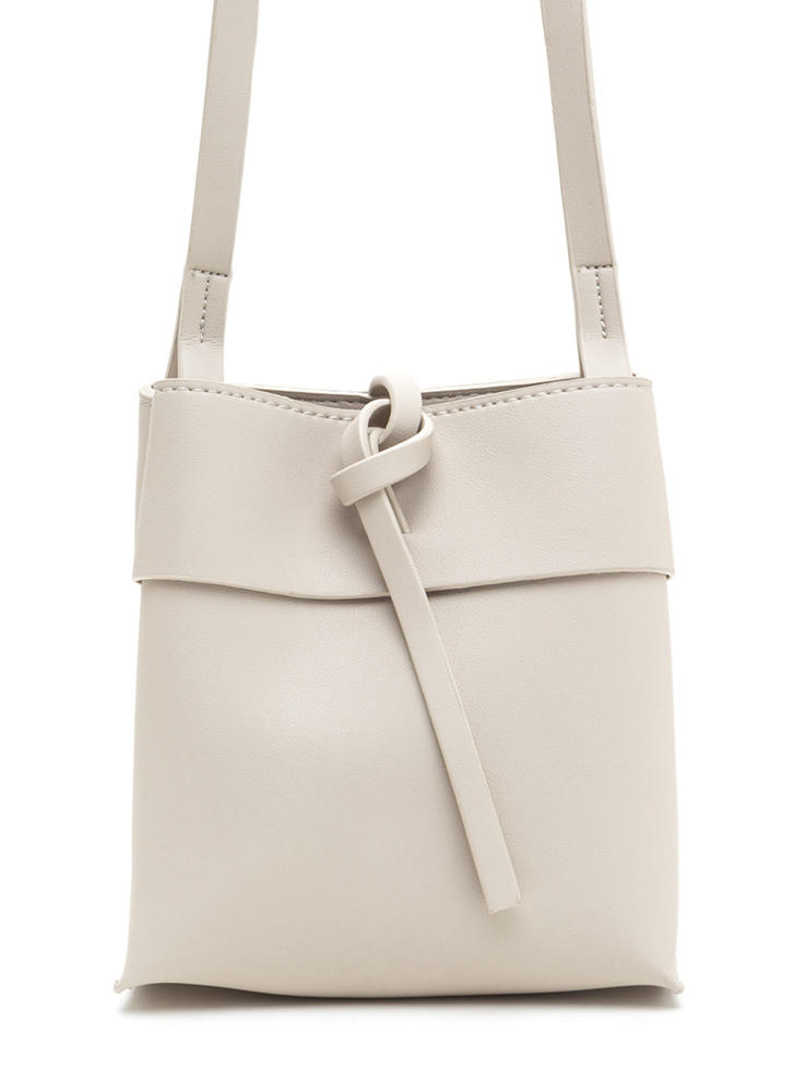 Knot Your Typical Square Crossbody Bag LTGREY