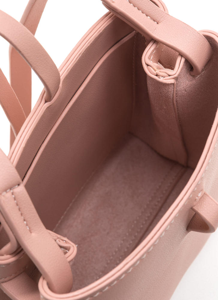 Knot Your Typical Square Crossbody Bag PINK