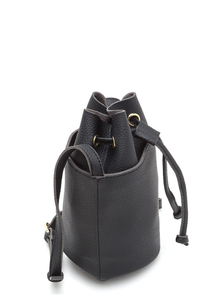 Chic About Town Mini Bucket Bag BLACK