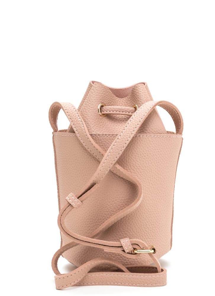 Chic About Town Mini Bucket Bag PINK