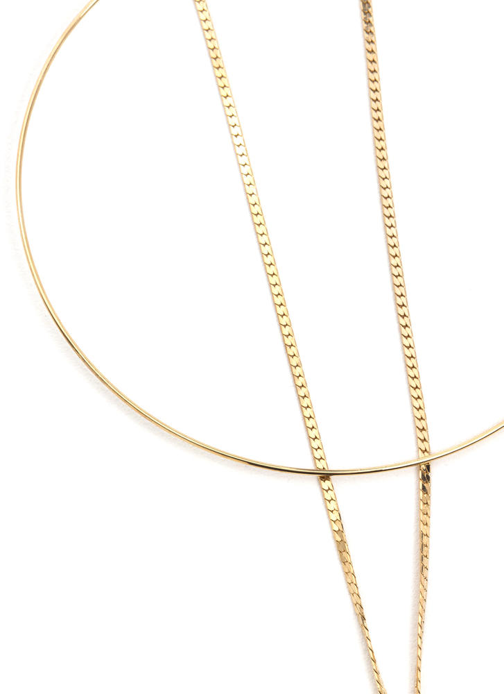 Tell Your Tails Chained Choker GOLD