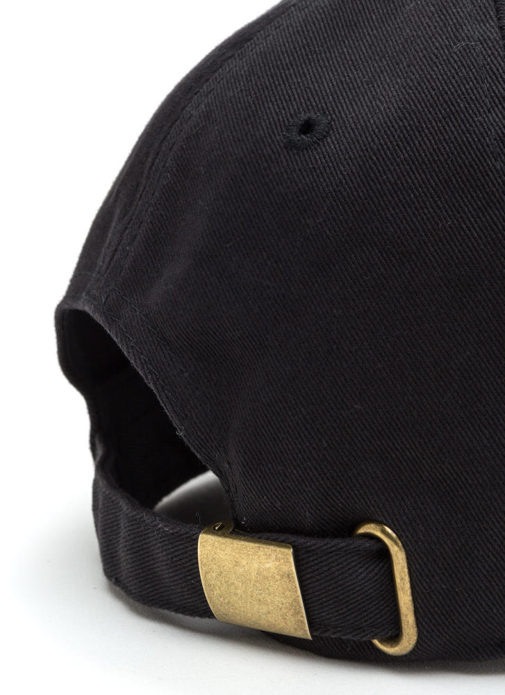 Read My Lipstick Canvas Cap BLACK