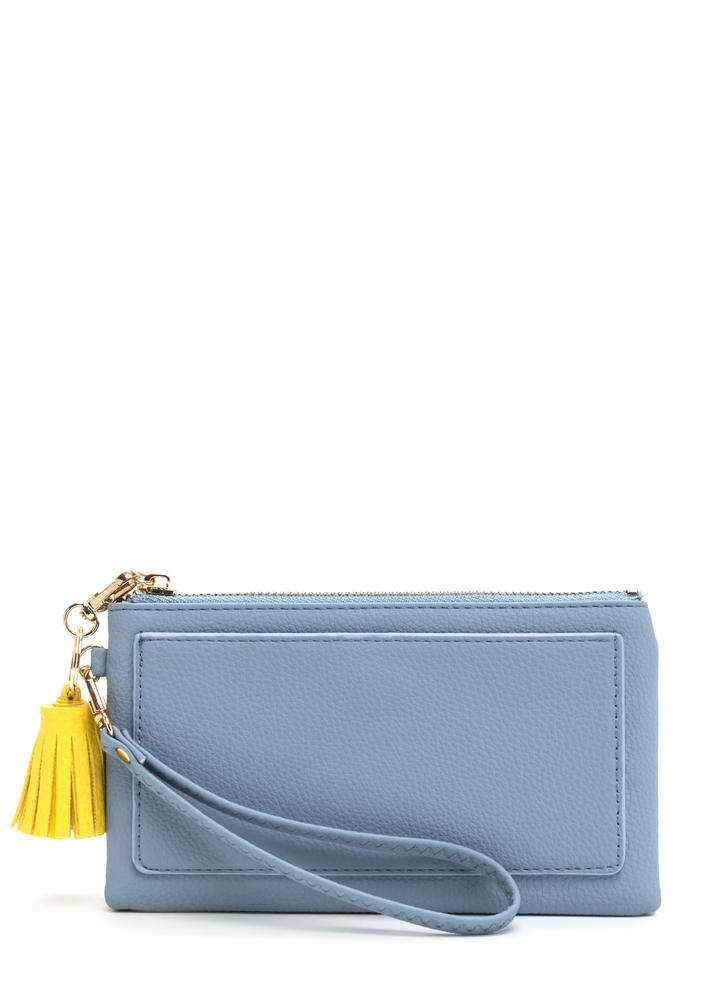 Bring It With You Tassel Clutch