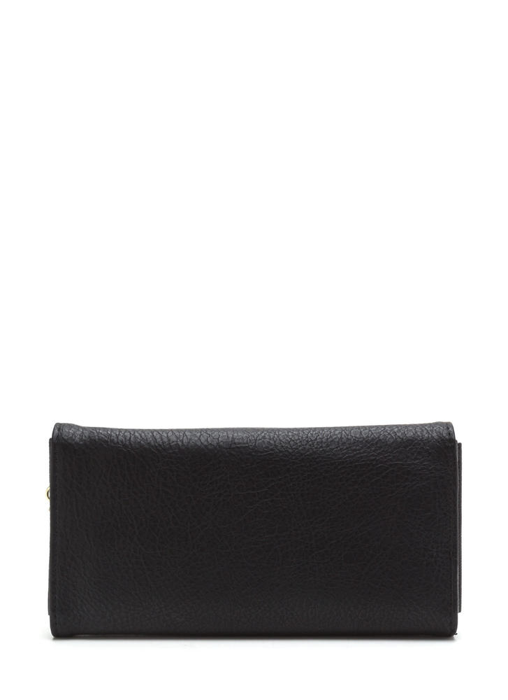 Chain Ring Action Envelope Wallet BLACK