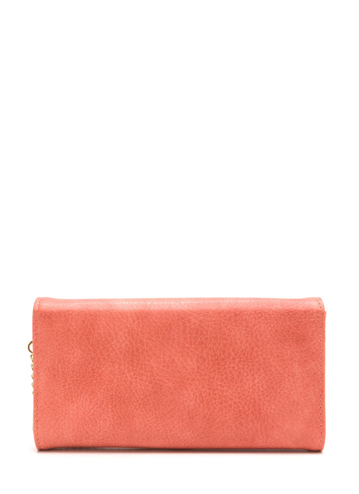 Chain Ring Action Envelope Wallet CORAL