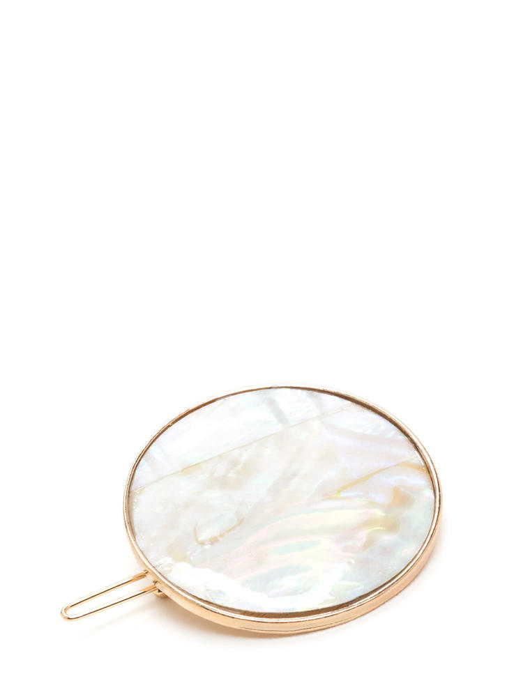 Circle Of Life Mother Of Pearl Hairpin GOLD