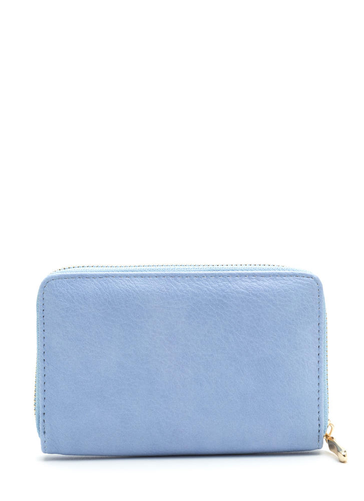 Think Inside The Box Zip-Up Wallet BLUE