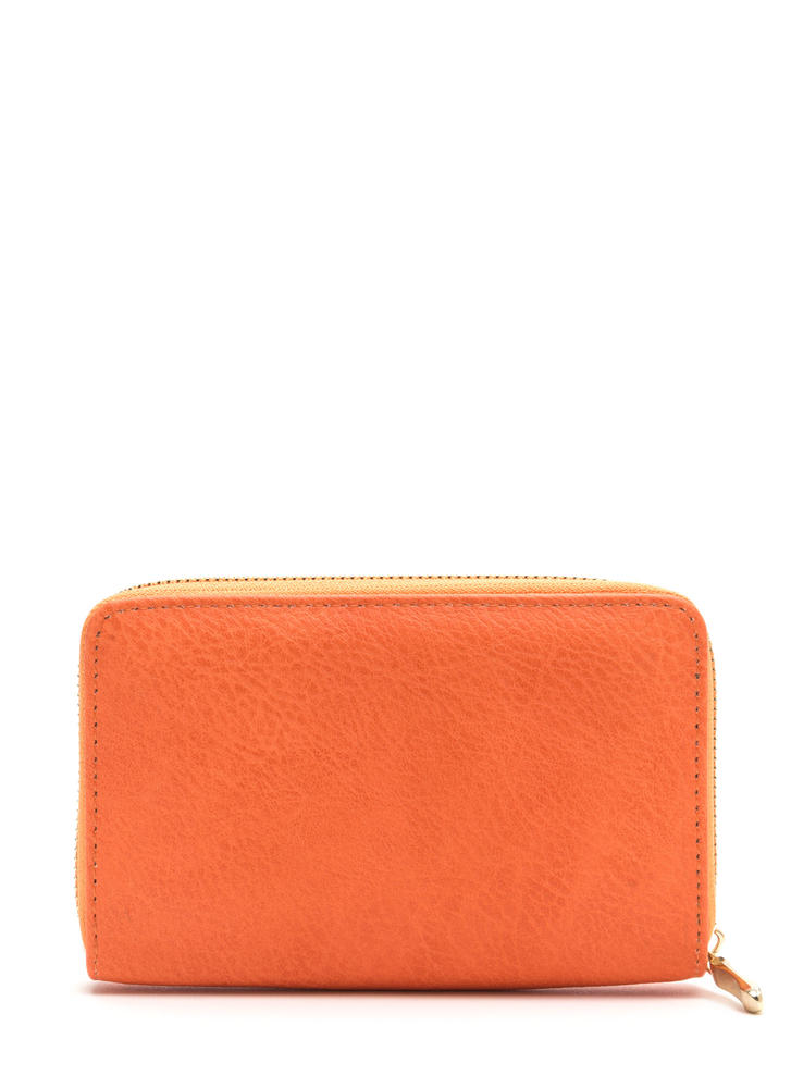 Think Inside The Box Zip-Up Wallet ORANGE