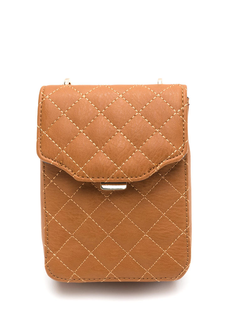 Quilty Pleasures Crossbody Mini Bag TAN