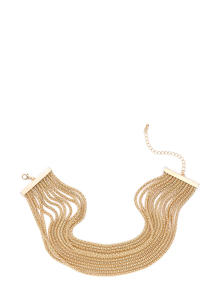 It Takes Twelve Draped Chain Necklace GOLD