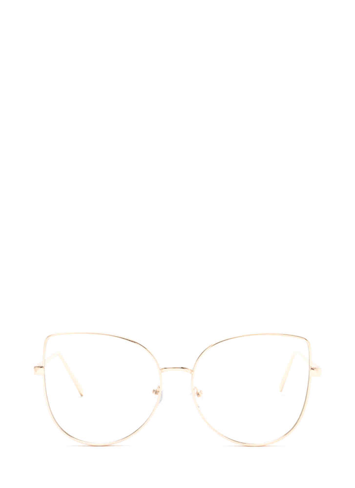 Are You Kitten Me Metallic Glasses