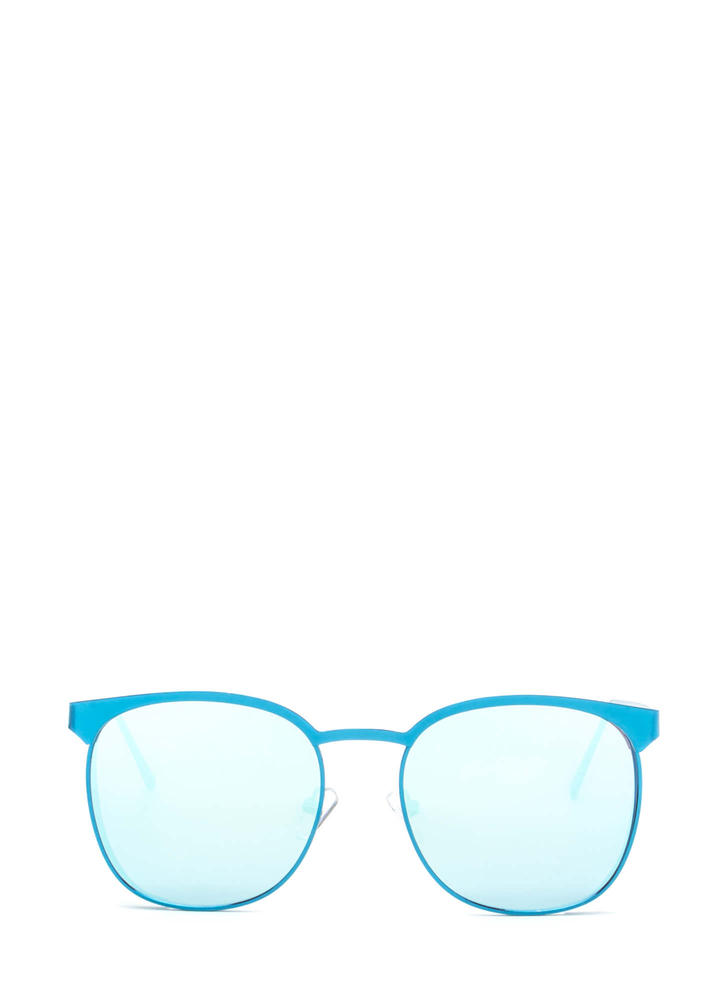 Reflect On It Rounded Sunglasses BLUE