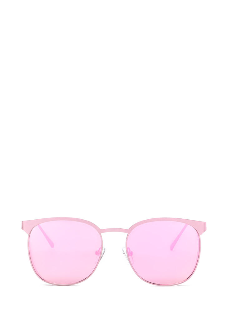 Reflect On It Rounded Sunglasses PINK