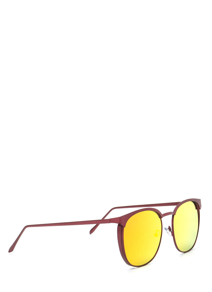 Reflect On It Rounded Sunglasses RED