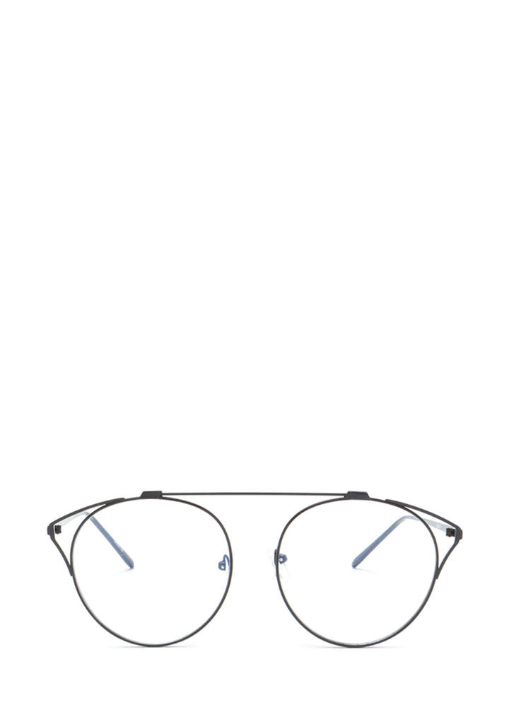 Frame Of Reference Round Glasses BLACK