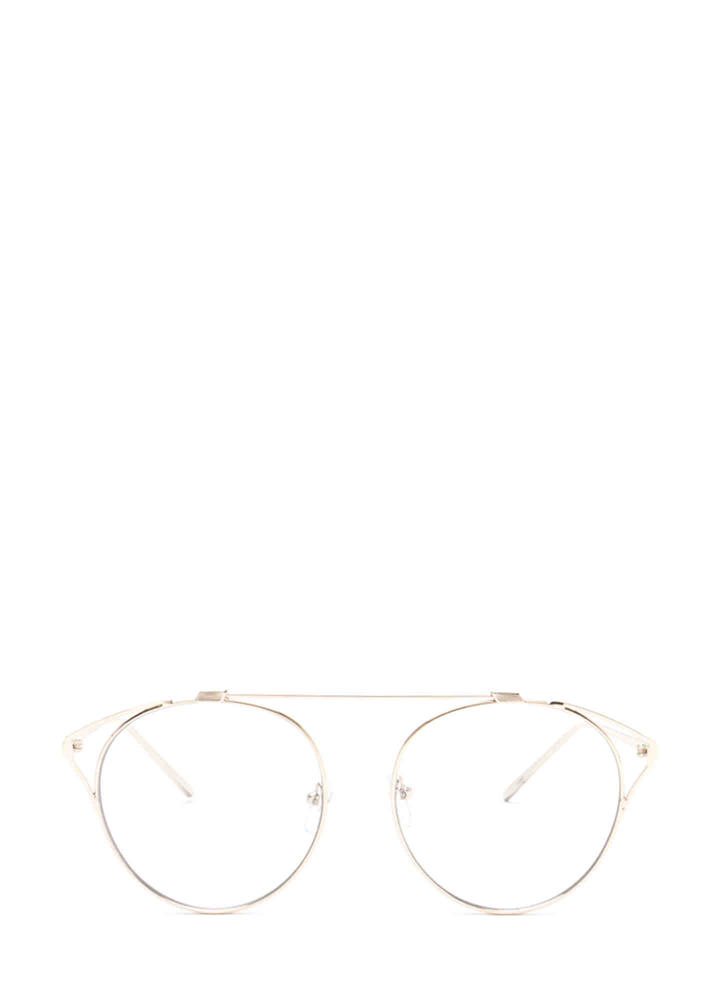 Frame Of Reference Round Glasses GOLD
