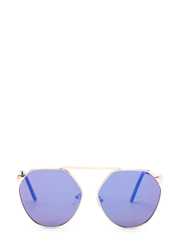 Shape Up Brow Bar Sunglasses BLUEGOLD