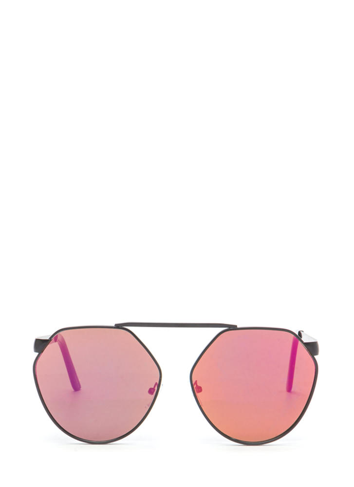 Shape Up Brow Bar Sunglasses PINKBLACK