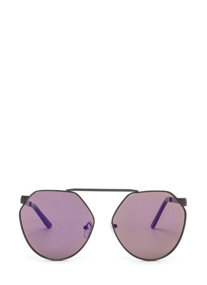 Shape Up Brow Bar Sunglasses PURPLEBLACK