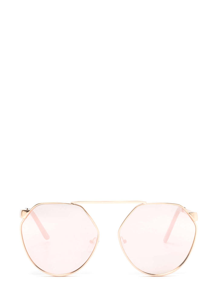 Shape Up Brow Bar Sunglasses ROSEGOLD