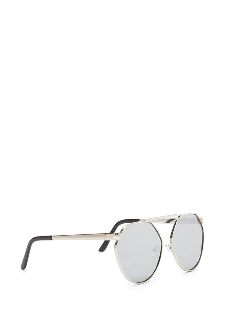 Shape Up Brow Bar Sunglasses SILVER