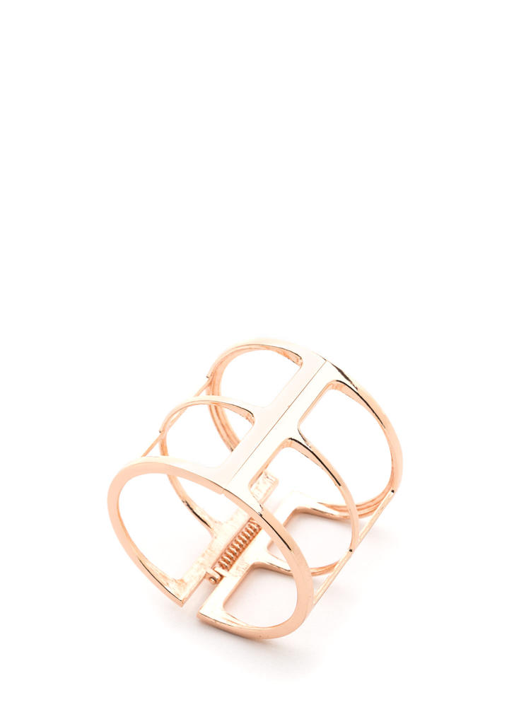 Outside The Box Cut-Out Cuff Bracelet ROSEGOLD