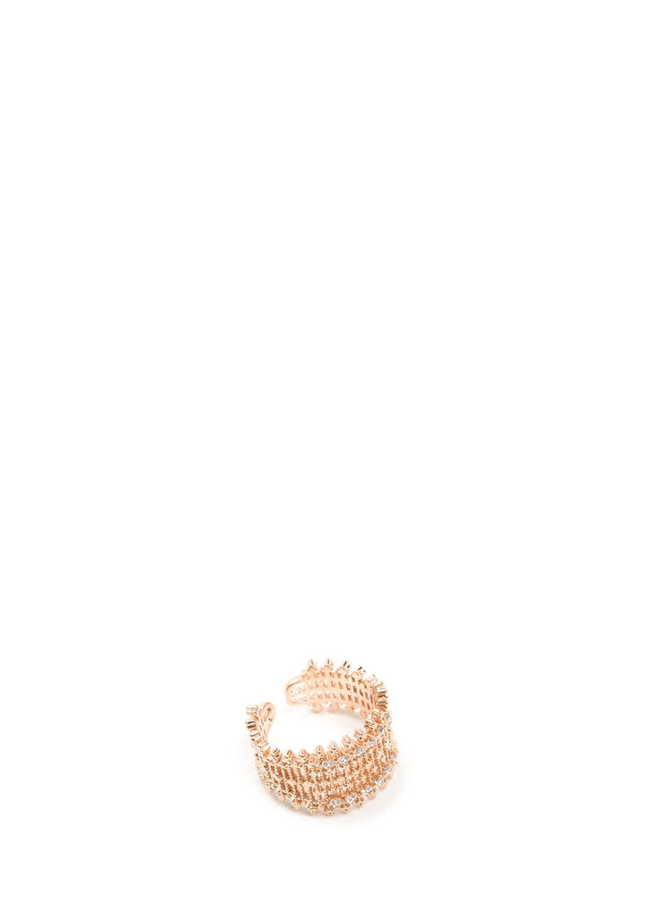 The Crown Jewels Studded Ring ROSEGOLD