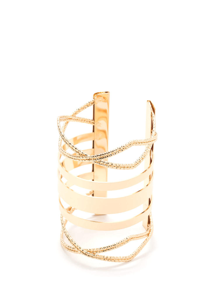 Band Together Shiny Cut-Out Cuff