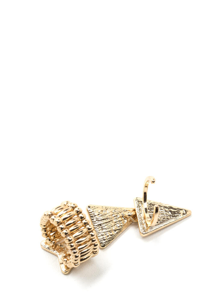 Bling It This Way Stretchy Arrow Ring GOLD