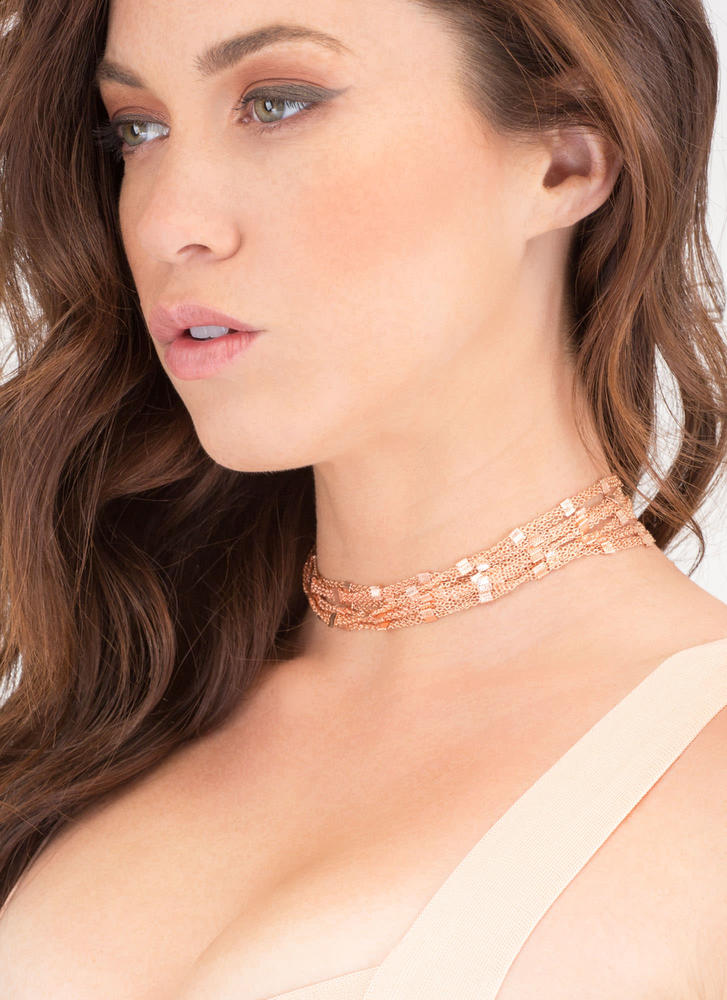 Squared Off Layered Chain Choker