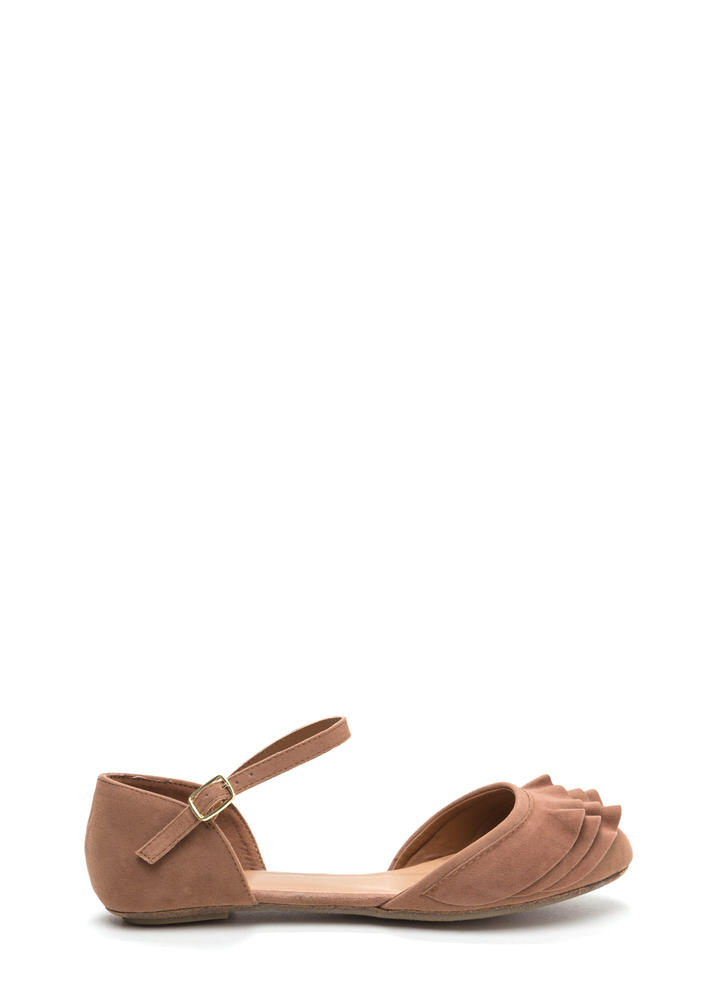 Frill Seeker Ruffled Ankle Strap Flats