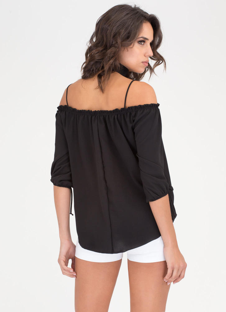 Give It To Me Baby Off-Shoulder Top BLACK